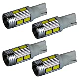 【10連プロジェクターホワイト4個】LED T10 T16 ポジション バックランプ テールランプ ウインカー ルームランプ ナンバー灯