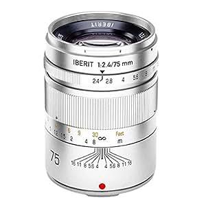 HandeVision 単焦点レンズ IBERIT (イベリット) 75mm f/2.4 シルバー (富士フィルムXマウント)