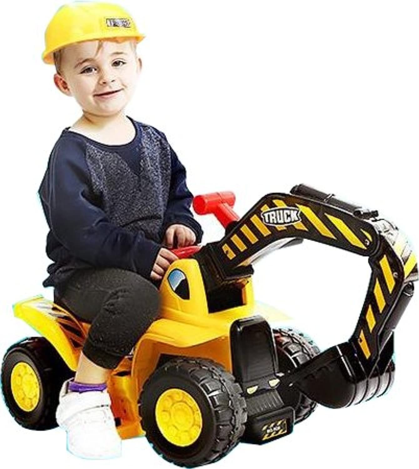 おもちゃTractors for Kids ride-on Excavator – 音楽サウンドDiggerスクーターTractorおもちゃBulldozer Includesヘルメットwith Rocks – Ride On Tractor Pretend Play – 幼児用トラクターConstruction Truck – by play22