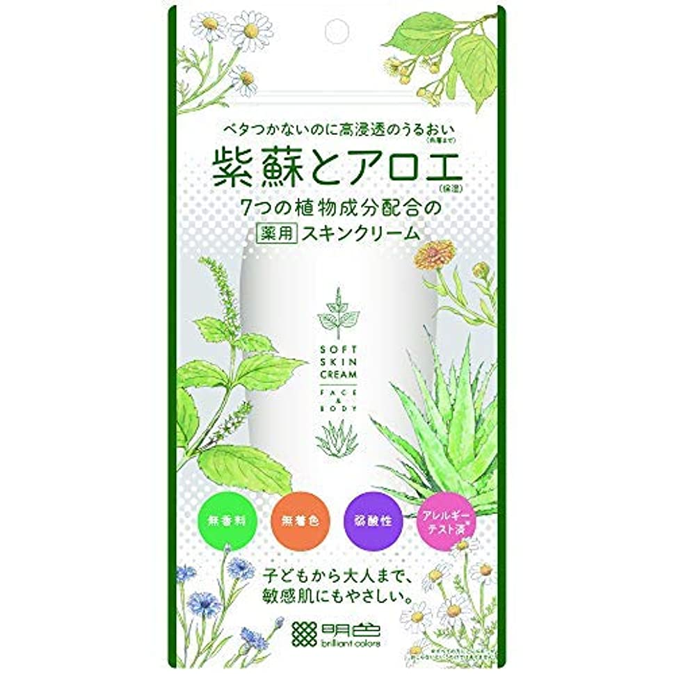 コンテストマットレスフォルダ紫蘇とアロエ 薬用スキンクリーム × 12個セット