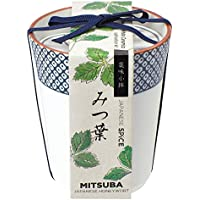 聖新陶芸 染付小紋薬味小鉢 みつ葉