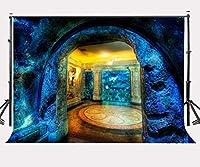 DLQX 150x220cm美しい水族館の背景サメリーフ写真の背景スタジオ小道具