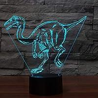 ノベルティランプ、 カラフルなUSBデスクランプLED恐竜のモデル動物ナイトライト赤ちゃんの睡眠照明ベッドルームベッドサイドの照明器具インテリアギフト