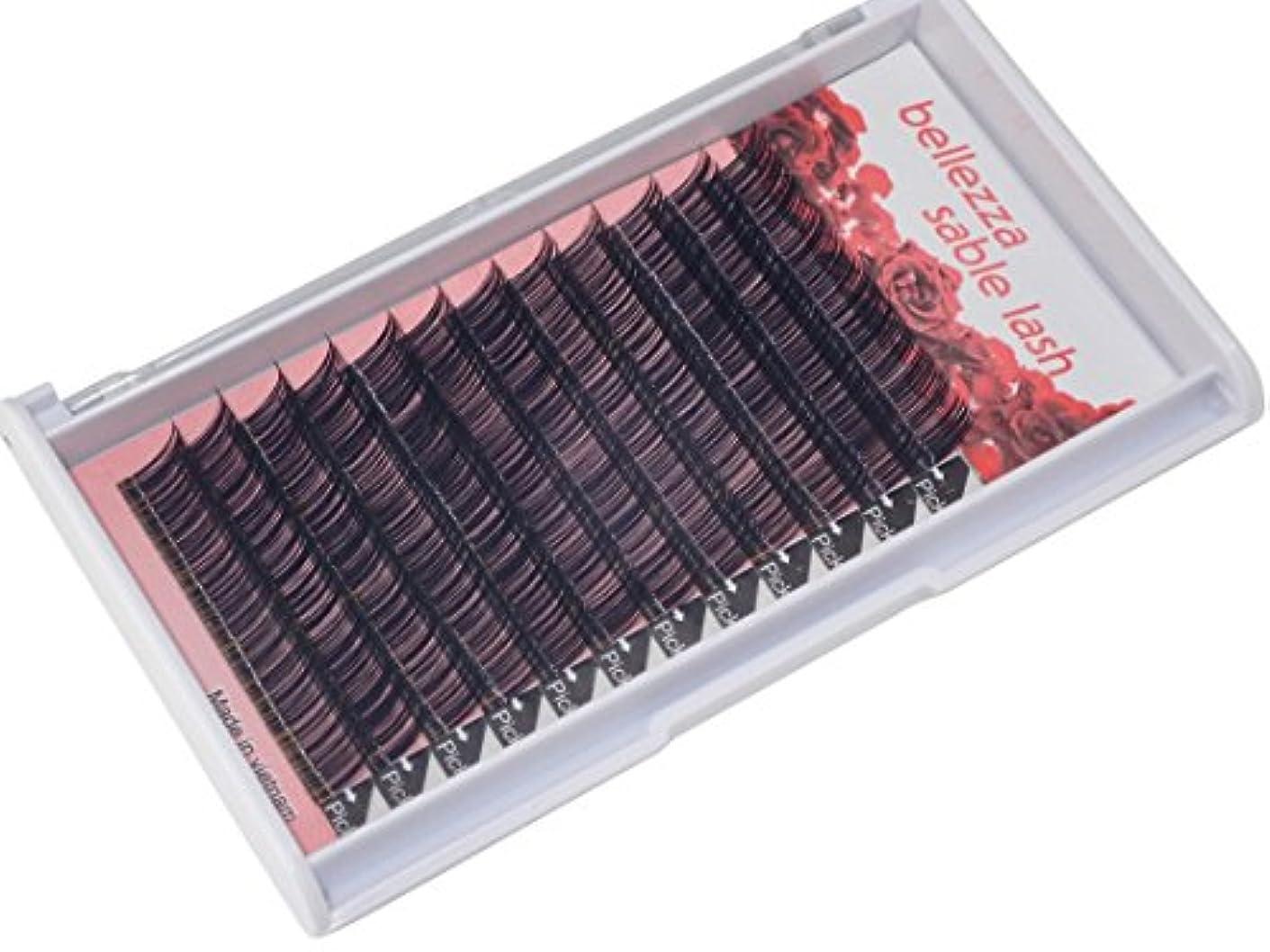 弱まる新鮮な情熱的bellezza セーブルボリュームラッシュ 太さ 0.06mm Cカール (10mm)