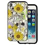 Best BG iPhone 4ケース - mitas iPhone7 ケース ハイブリットケース 耐衝撃 (913) ひまわり柄 ベージュ Review