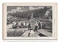 Winslow Homer 伸びた ジクレー キャンバスに印刷-有名な絵画 美術品 ポスター -再生 壁の装飾 ハングする準備ができて(造船グロスター港)#NK