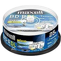 maxell 録画用BD-R DL 2層 1回録画用 地上デジタル360分 BSデジタル260分 2倍速対応 IJP対応ホワイト(ワイド印刷) 25枚 スピンドルケース BRV50WPA.25SPZ
