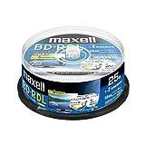 maxell 録画用BD-R DL 2層 1回録画用 地上デジタル360分 BSデジタル260分 2倍速対応 IJP対応ホワイト(ワイド印刷) 25枚 スピンドルケース マクセルホールディングス BRV50WPA.25SPZ