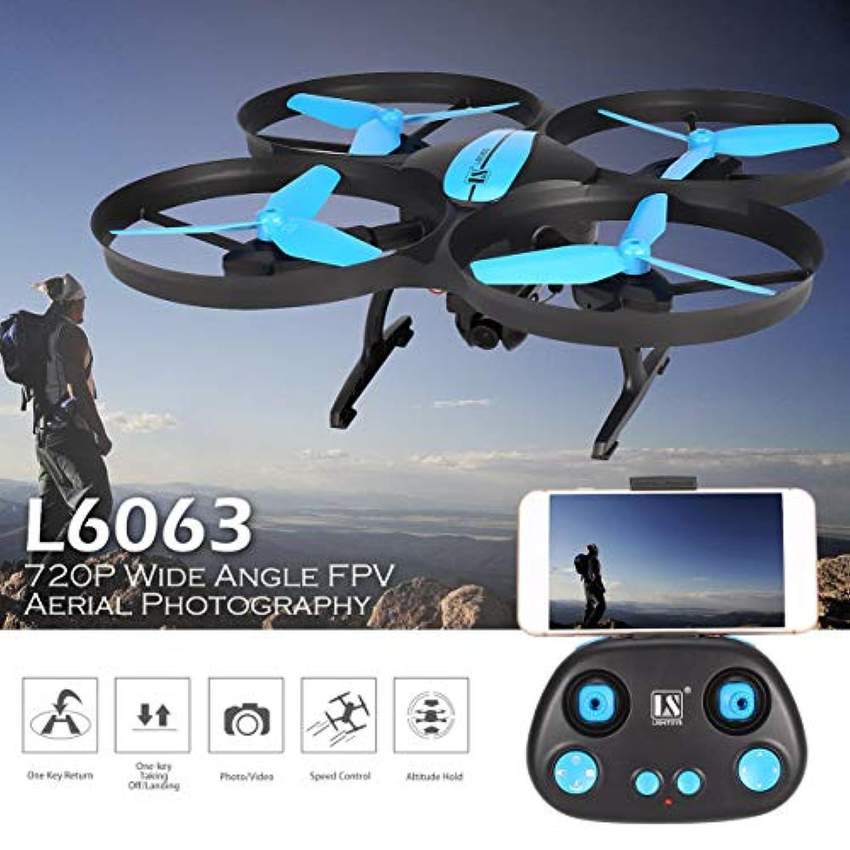 L6063 4CH RCドローンクアドコプター高度720Pカメラワンキーリターンブルー(720p広角カメラ)
