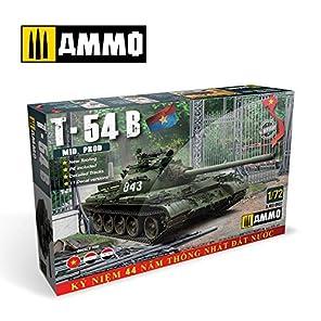 アモ 1/72 北ベトナム軍 中戦車T-54B 中期型 プラモデル AMO8502