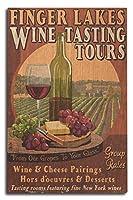 指湖、ニューヨーク–Wine Tasting Vintage Sign 10 x 15 Wood Sign LANT-40451-10x15W