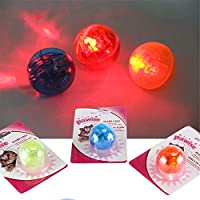 Durable Small Flash Ball Toy Cat Pet Interactive Dog Products Play Pets Game Gatos Fun Training Cats Balls Toys Dog QQV335