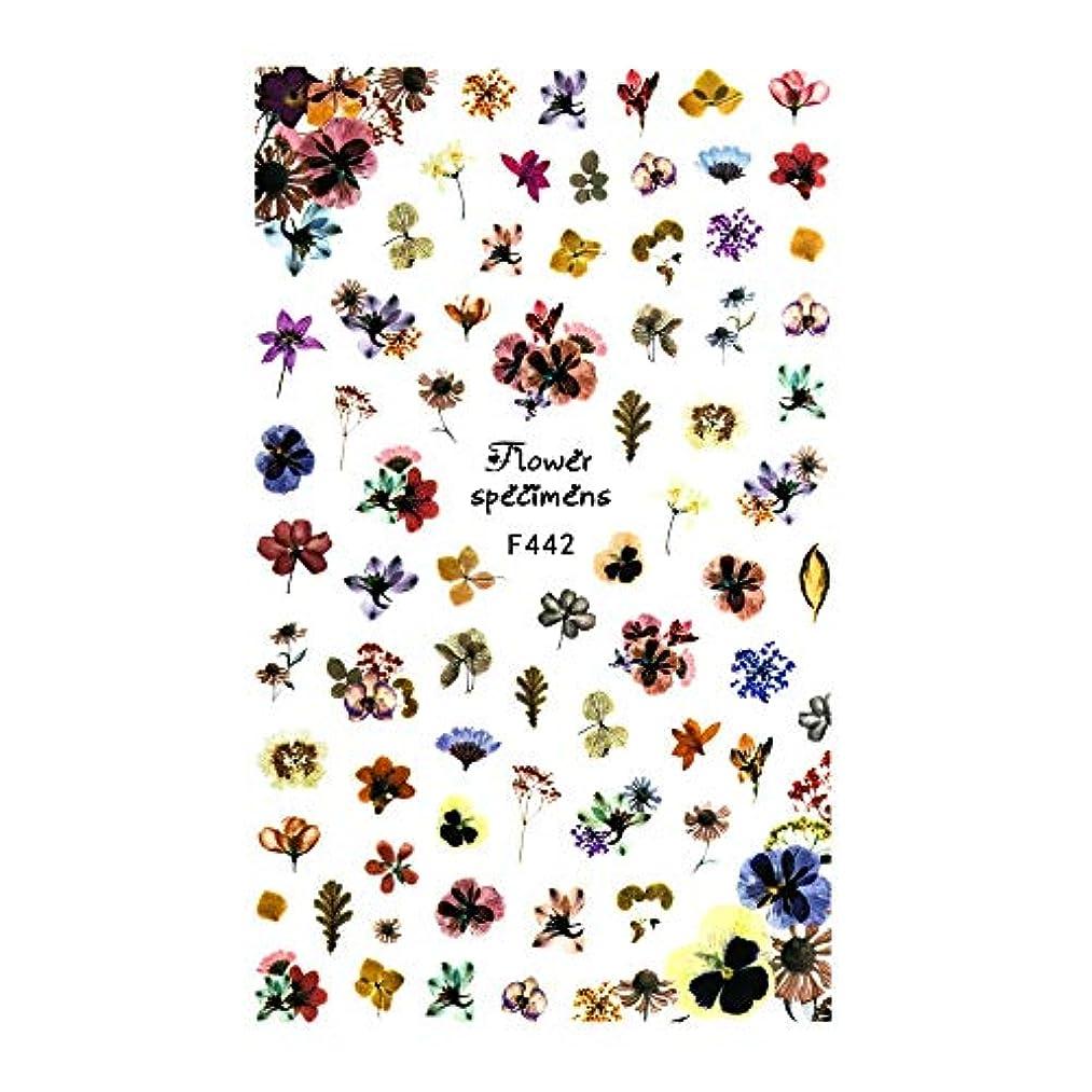 理想的ランク彫るirogel イロジェル ネイルシール アンティークドライフラワーシール【F442】花 フラワー ドライフラワー