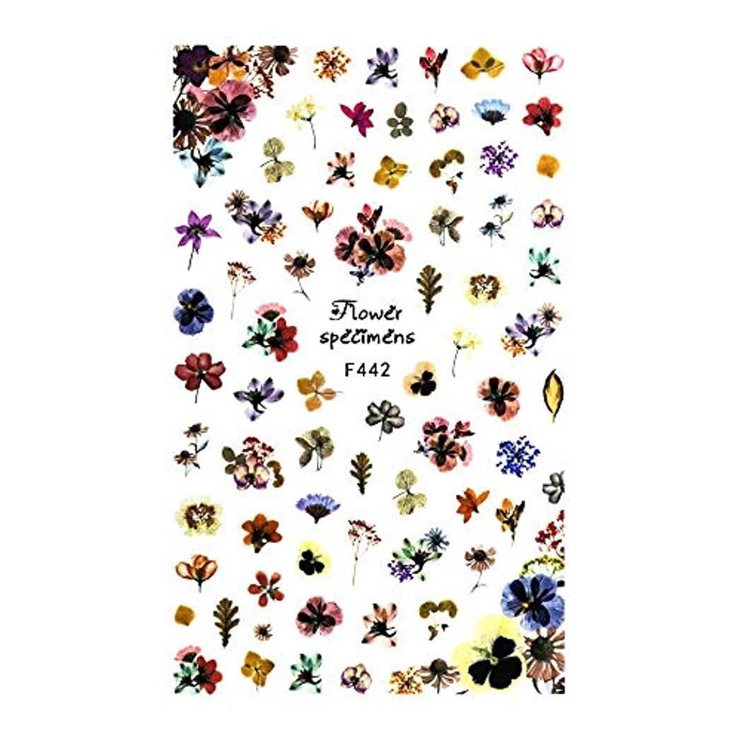 渇き公然と先入観irogel イロジェル ネイルシール アンティークドライフラワーシール【F442】花 フラワー ドライフラワー