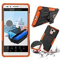 For Huawei Honor 7 耐久保護ケース LoveBee Shockproof Case 電話ケーススリム - Orange