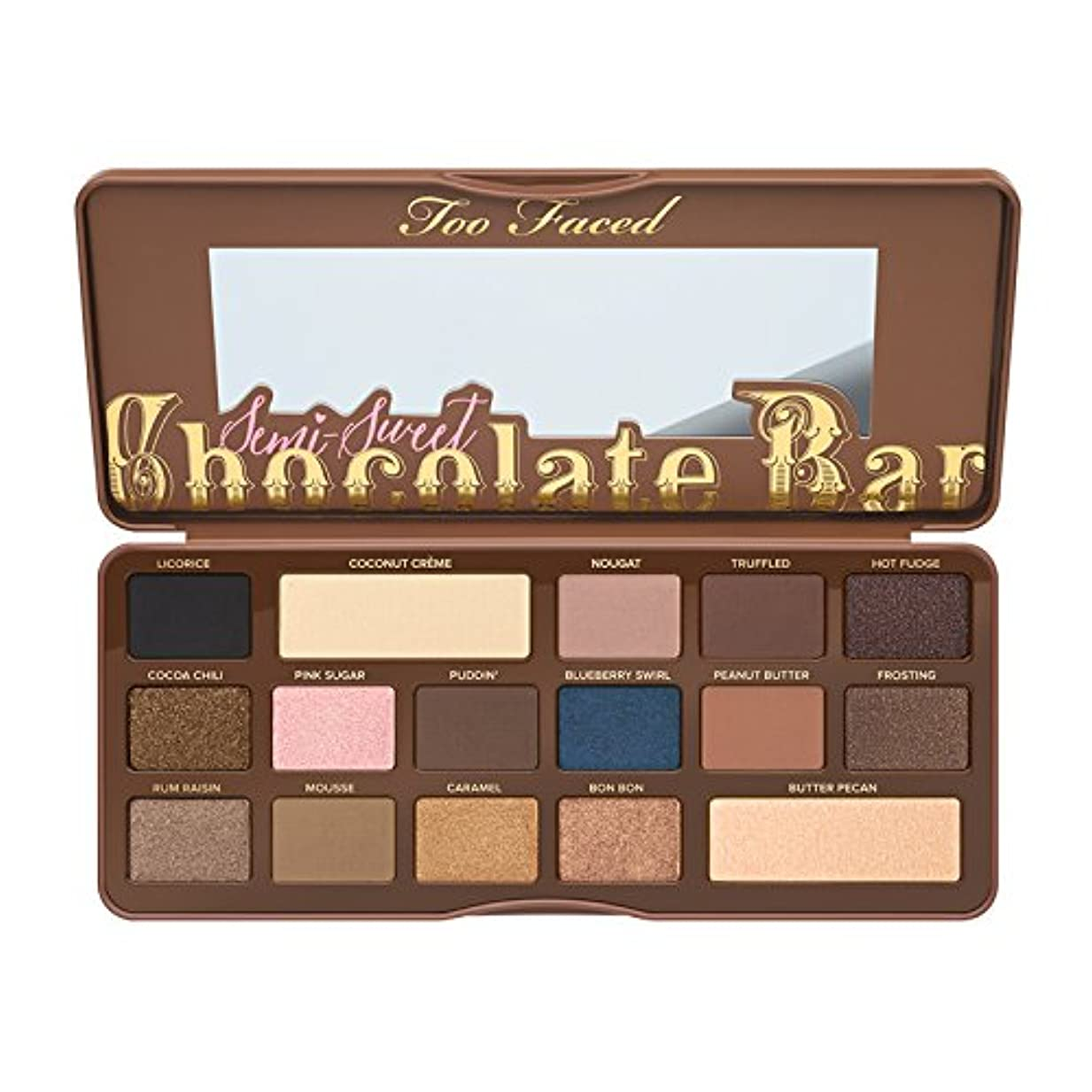 マーキング川包帯Too Faced Semi-Sweet Chocolate Bar Eye Shadow Collection (並行輸入品) [並行輸入品]