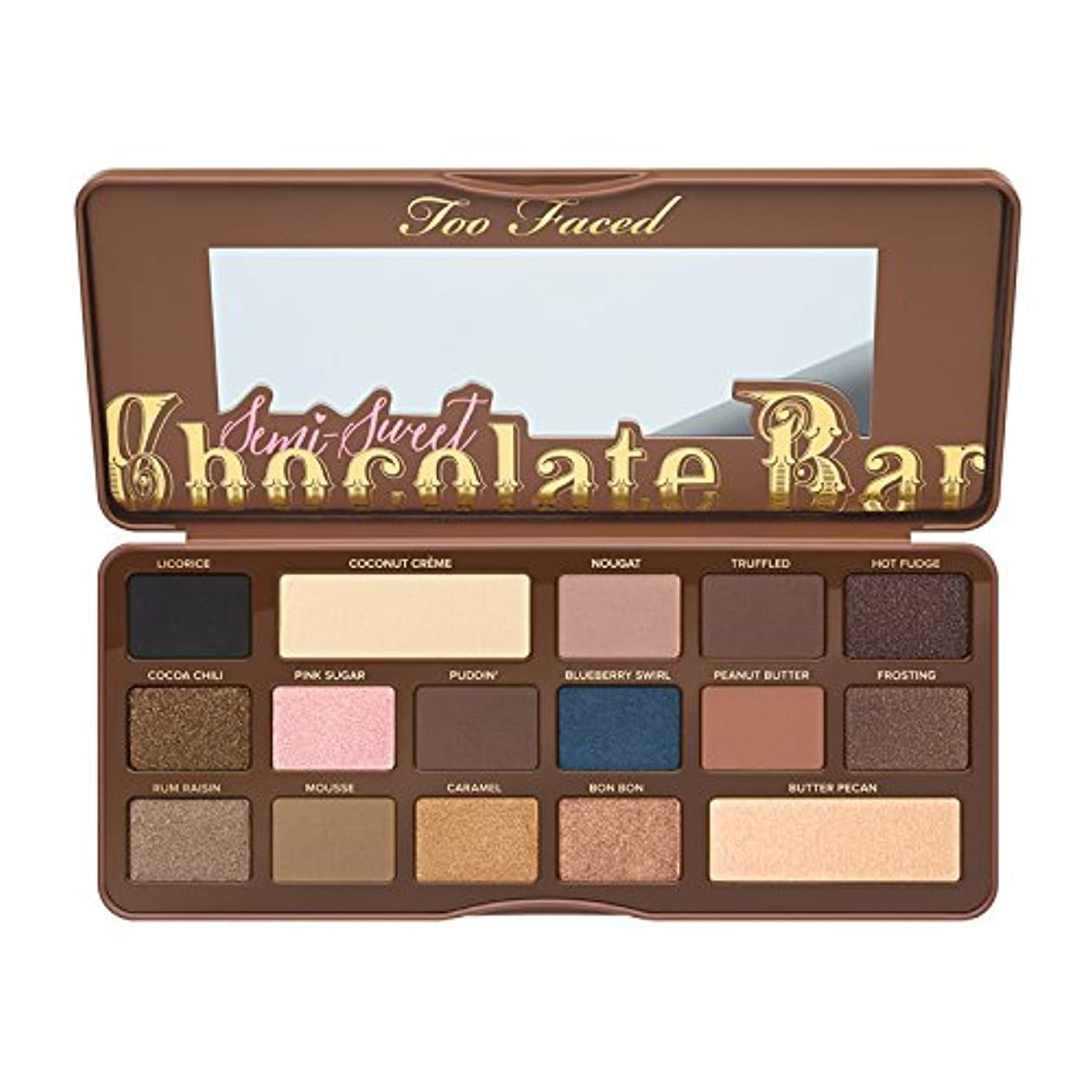 プレートカリング解釈的Too Faced Semi-Sweet Chocolate Bar Eye Shadow Collection (並行輸入品) [並行輸入品]