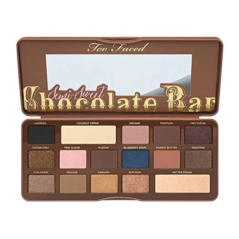 まだら教育者自由Too Faced Semi-Sweet Chocolate Bar Eye Shadow Collection (並行輸入品) [並行輸入品]