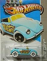 Hot Wheels 2013 Hw City Light Blue Volkswagen Beetle Graffiti Rides 40/250 by Mattel [並行輸入品]