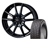 [195/50R16]DUNLOP / WINTER MAXX 01 スタッドレス [2/-][Weds / LEONIS NAVIA 04 (MBK) 16インチ] スタッドレス&ホイール4本セット ヴィッツ(130/90系 16インチ車)、ロードスター(ND系)