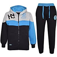 Kids Boys Girls Black Tracksuit HNL Projection Print Hoodie & Botom Jogging Suit