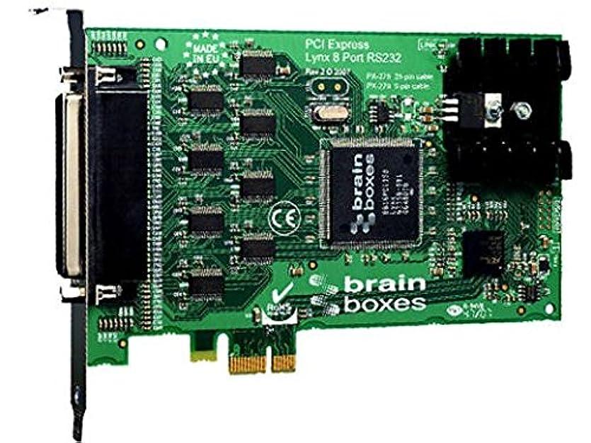 鋸歯状視力アデレードBrainboxes Limited – Brainboxes px-279マルチポート8ポートシリアルアダプタ – PCI Express x1 – 8 x DB - 9オスケーブル – プラグインカードでRS - 232シリアル
