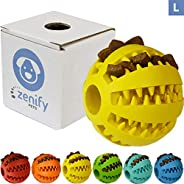 Zenify Puppy Toys Dog Toy Food Treat Interactive Puzzle Ball for Tooth Teething Chew Fetch Tennis Training Boredom Behaviour