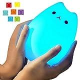 Umiwe ベッドサイドランプ シリコン猫 LED デスクライト USB充電式 テーブルランプ 多色変更 雰囲気作り 照明ランプ 常夜灯 寝室 ギフ..