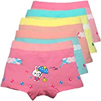 Cczmfeas Girls Underwear Rabbit Boyshort Cotton Panties Bikini for Kids 5 Pack