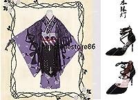 「ノーブランド品」コスプレ衣装 ローゼンメイデン Rozen Maiden 水銀燈 10th 10周年 大正ロマンスペック 修正版+靴