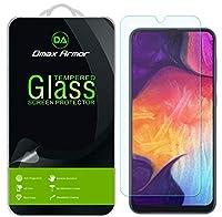 Dmax Armor サムスン Galaxy A50用 強化ガラススクリーンプロテクター 3パック 一生交換