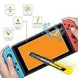Saniki 2枚 Nintendo Switch 強化ガラスフィルム、 Nintendo Switch 用 【日本製素材旭硝子/3D Touch対応 / 0.26mm / 0.25D / 硬度9H / 気泡防止 】 Nintendo Switch,(フィルム 2枚)