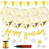 Aplanet 誕生日 飾り付け 装飾 風船 バースデー デコレーション セット 金色