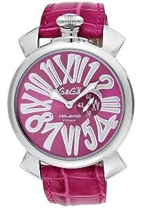 [ガガミラノ]GaGa MILANO 腕時計 スリム46mm ライトパープル文字盤  カーフ革ベルト 5084.6 メンズ 【並行輸入品】