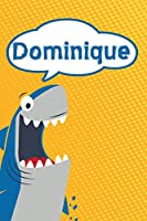 """Dominique: Great White Shark Blank Comic Book Notebook Journal book 120 pages 6""""x9"""""""