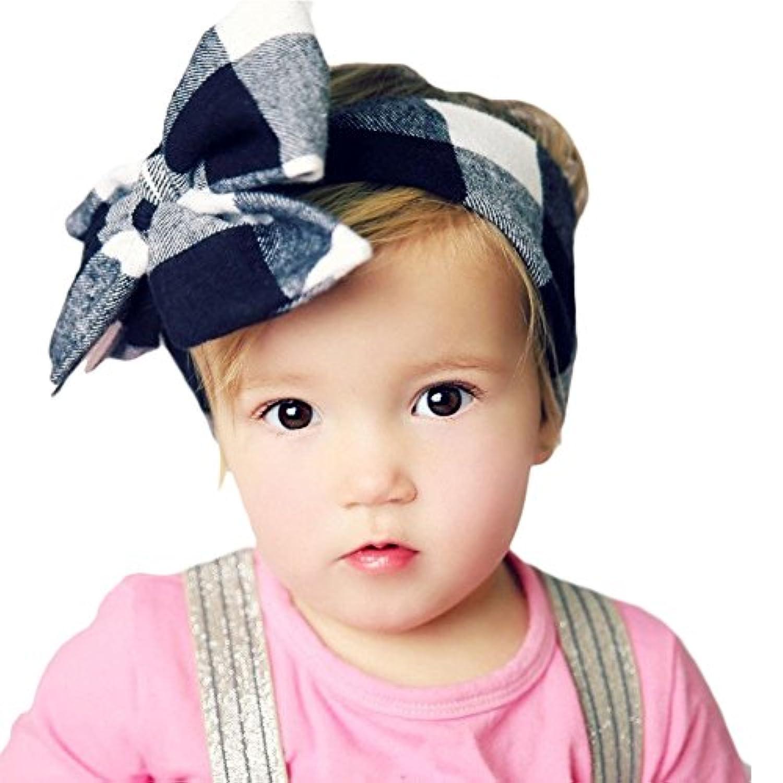 Koola(コオラ)ベビー ガールズ ヘッドバンド かわいい ストレッチ ヘアバンド 髪飾り 蝶結び 新生児 子供の日 カチューシャ リボン 100日記念日