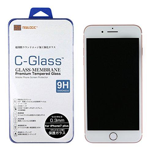 NEWLOGIC 【 iPhone7 plus / iPhone8 plus 】 C-Glass 0.3mm 強化ガラス液晶保護フィルム (硬度 9H) 液晶保護 ガラス フィルム 感圧タッチ 強化ガラス ( 3D touch ) 対応 ワイドサイズ
