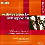 チャイコフスキー:交響曲第4番/ショスタコーヴィチ:チェロ協奏曲第1番(ロストロポーヴィチ/レニングラード・フィル/ロジェストヴェンスキー)(1960, 1971)
