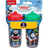 Playtex Sipsters Stage 3 Thomas The Train Spill-Proof, Leak-Proof, Break-Proof Insulated Spout Sippy Cups - 9 Ounce - 2 Count