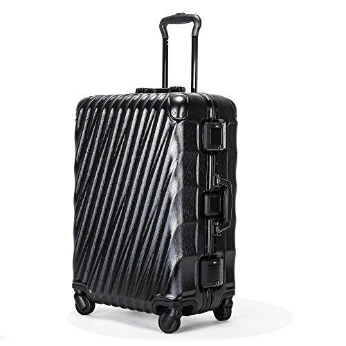 Kroeus(クロース) スーツケース 機内持込 軽量 人気 TSAロック 4輪ダブルキャスター 3段調節キャリーバー キャリーケース 大容量 旅行 出張 一年保証 S ブラック