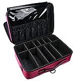 ArcEnCiel メイクボックス プロ用 大容量 化粧箱メイクブラシ収納 キャリータイプ