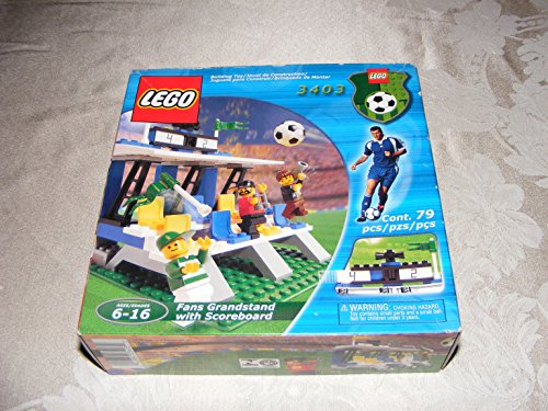 Lego 3403 Soccer Fans Grandstand with Scoreboard Set (79 Pieces)