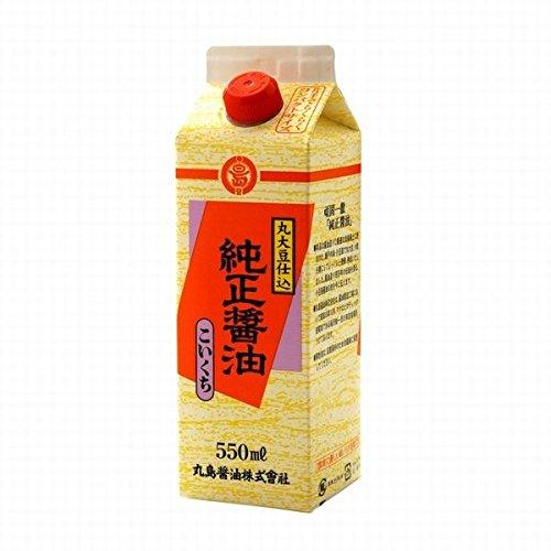 丸島 純正醤油(濃口)550ml<紙パック入>