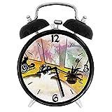 210STAR-バスマッサージスパアロマセラピーリラックスした穏やかなマッサージを取っている猫を持つ少女レトロで個性あふれる、家やオフィス用の大きなウェイクアップの目覚まし時計
