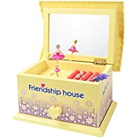 monsiter Cartoon Musicalジュエリーボックスホーム装飾 イエロー MB01-yellow