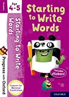 Progress with Oxford: Starting to Write Words Age 4-5