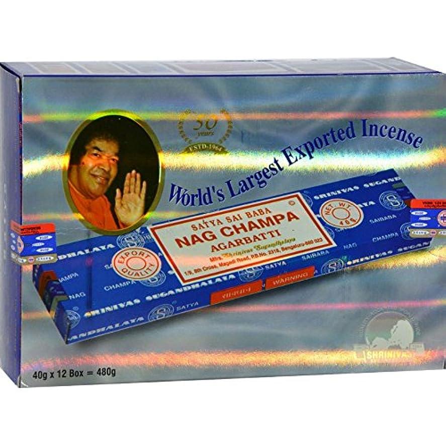 メンタル摘む演劇Sai Baba Champa Incense 40 Grams (Pack of 12) (並行輸入品)
