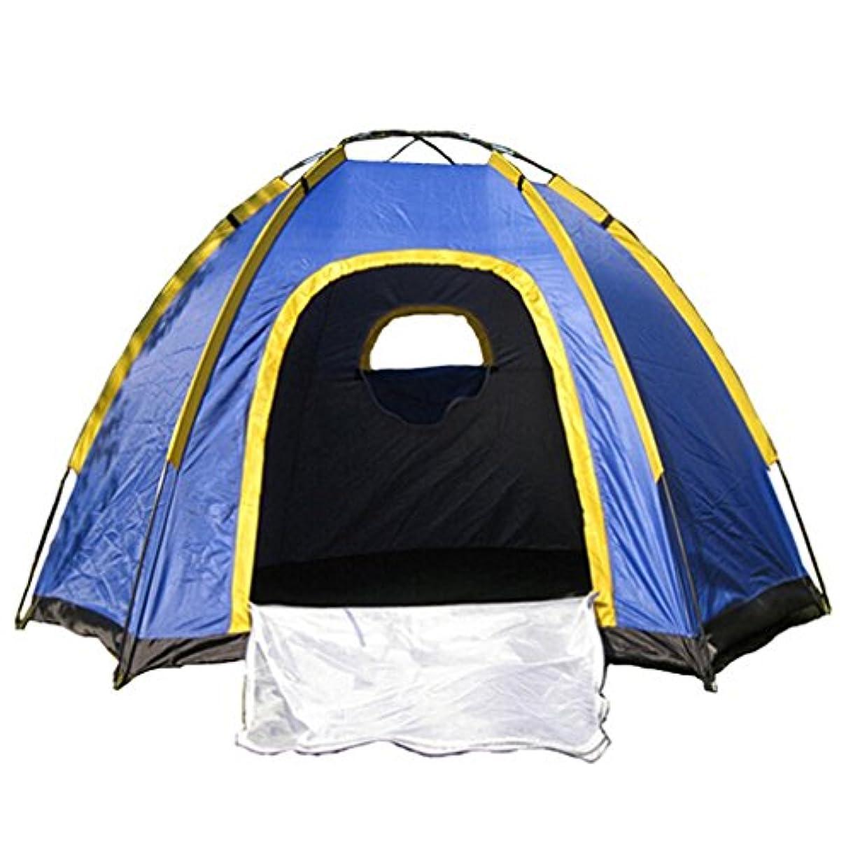 繊維財団重要な役割を果たす、中心的な手段となるテント OUTAD 六角テント 3-4人用超大キャンプテント ハイキング 防水