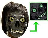 3world 日本製 ゾンビ コスチューム 蓄光機能 恐怖 ホラー がいこつ マスク 2点セット SW528 3Dグローブ