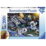 "Ravensburger 12692 Cosmic Exploration, 200 Piece Puzzle for Kids, Every Piece is Unique, Pieces Fit Together Perfectly, Multi, 19.5"" x 14.25"""